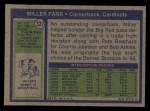 1972 Topps #327  Miller Farr  Back Thumbnail