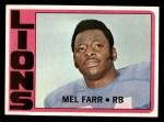 1972 Topps #288  Mel Farr  Front Thumbnail