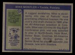 1972 Topps #324  Mike Montler  Back Thumbnail