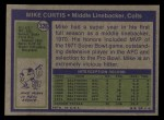 1972 Topps #326  Mike Curtis  Back Thumbnail