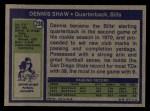 1972 Topps #238  Dennis Shaw  Back Thumbnail