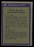 1972 Topps #277   -  Carl Eller All-Pro Back Thumbnail