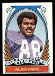 1972 Topps #279   -  Alan Page All-Pro Front Thumbnail