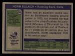 1972 Topps #232  Norm Bulaich  Back Thumbnail