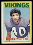 1972 Topps #53  Charlie West  Front Thumbnail
