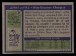 1972 Topps #317  Jerry LeVias  Back Thumbnail