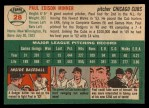 1954 Topps #28 WHT Paul Minner  Back Thumbnail
