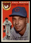 1954 Topps #28 WHT Paul Minner  Front Thumbnail