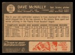 1964 Topps Venezuelan #161  Dave McNally  Back Thumbnail