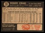 1964 Topps Venezuelan #295  Roger Craig  Back Thumbnail