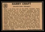 1964 Topps Venezuelan #298  Harry Craft  Back Thumbnail