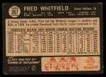 1964 Topps Venezuelan #367  Fred Whitfield  Back Thumbnail