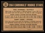 1964 Topps Venezuelan #262   -  Mike Shannon / Harry Fanok  Cardinals Rookies Back Thumbnail
