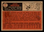 1966 Topps Venezuelan #359  Johnny Briggs  Back Thumbnail