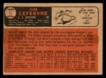 1966 Topps Venezuelan #57  Jim LeFebvre  Back Thumbnail