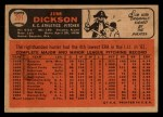 1966 Topps Venezuelan #201  Jim Dickson  Back Thumbnail