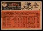 1966 Topps Venezuelan #28  Phil Niekro  Back Thumbnail