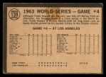 1964 Topps Venezuelan #139   1963 World Series - Game #4 - Sealing Yanks' Doom - Frank Howard Back Thumbnail