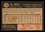 1964 Topps Venezuelan #168  Al Weis  Back Thumbnail