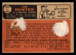 1966 Topps Venezuelan #36  Catfish Hunter  Back Thumbnail