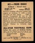 1948 Leaf #82  Fred Enke  Back Thumbnail