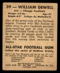 1948 Leaf #39  Billy Dewell  Back Thumbnail