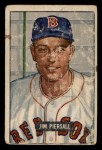 1951 Bowman #306  Jimmy Piersall  Front Thumbnail