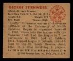 1950 Bowman #249  George Stirnweiss  Back Thumbnail