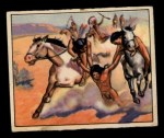 1949 Bowman Wild West #12 D  Saving the Wounded Front Thumbnail