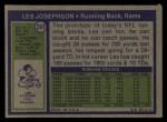 1972 Topps #247  Les Josephson  Back Thumbnail