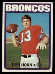 1972 Topps #178  Don Horn  Front Thumbnail