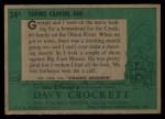 1956 Topps Davy Crockett Green Back #34   Taking Careful Aim  Back Thumbnail