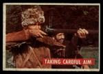 1956 Topps Davy Crockett Green Back #34   Taking Careful Aim  Front Thumbnail