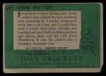 1956 Topps Davy Crockett Green Back #69   Over the Top  Back Thumbnail