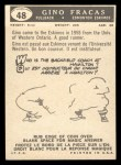1959 Topps CFL #48  Gino Fracas  Back Thumbnail