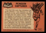 1966 Topps Batman Black Bat #24   Penguin Captured Back Thumbnail