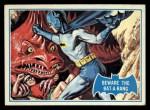 1966 Topps Batman Blue Bat Back #38   Beware the Batarang Front Thumbnail