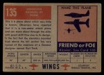 1952 Topps Wings #135   Unknown Back Thumbnail