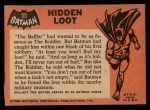 1966 Topps Batman Black Bat #55   Hidden Loot Back Thumbnail