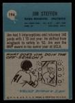 1964 Philadelphia #194  Jim Steffen   Back Thumbnail