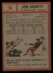 1962 Topps #78  Jon Arnett  Back Thumbnail