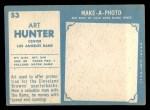 1961 Topps #53  Art Hunter  Back Thumbnail
