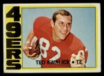 1972 Topps #155  Ted Kwalick  Front Thumbnail