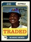 1974 Topps Traded #485 T  -  Felipe Alou Traded Front Thumbnail