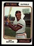 1974 Topps #187  Don Baylor  Front Thumbnail