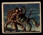 1950 Topps Freedoms War #159   Jumping Sentry  Front Thumbnail