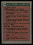 1975 Topps Mini #200   -  Mickey Mantle / Maury Wills 1962 MVPs Back Thumbnail