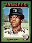1975 Topps Mini #321  Rudy May  Front Thumbnail