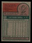 1975 Topps Mini #345  Clay Carroll  Back Thumbnail