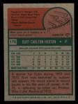 1975 Topps Mini #176  Burt Hooton  Back Thumbnail
